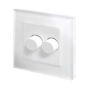 Crystal PG 2G Rotary LED Dimmer Switch 2 Way White